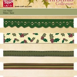 DEKOBAND / RIBBONS / RUBANS ... Establecer cintas decorativas, 5 x 1 mtr., Motivos navideños