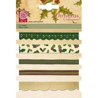 DEKOBAND / RIBBONS / RUBANS ... Rubans décoratifs Set, 5 x 1 MTR., Motifs de Noël
