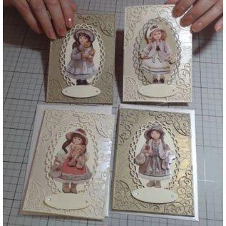 Bilder, 3D Bilder und ausgestanzte Teile usw... 3D Nostalgia, Dolls, 10 different 3D images