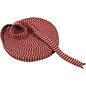 Embellishments / Verzierungen Knitted tube, W 22 mm, Christmas red / gray, meter goods