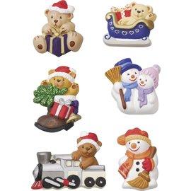 Modellieren Mold, bears and snowmen 5-6cm 260g.