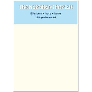 Karten und Scrapbooking Papier, Papier blöcke Transparant papier gekleurd, A4-formaat, ivoor, 115 g / m²