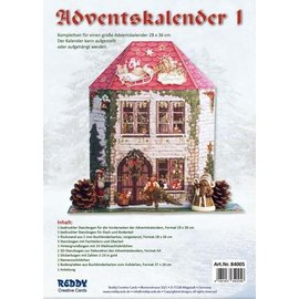 BASTELSETS / CRAFT KITS Craft set for 1 advent calendar, size 28 x 36 cm