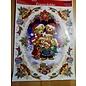 REDDY XL glitter raamfoto, raamsticker, 42 x 30 cm, zelfklevend
