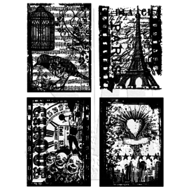Tim Holtz Stamp Set: Holiday Collections CMS 076, LAST AVAILABLE!
