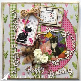 Joy!Crafts / Jeanine´s Art, Hobby Solutions Dies /  Set A4 di carta: motivi di gatto e carta di sfondo
