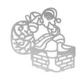 CREATIVE EXPRESSIONS und COUTURE CREATIONS Stanzschablonen, Weihnachtsmann, 50 x 50mm | 1.9 x 1.9in