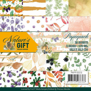 Karten und Scrapbooking Papier, Papier blöcke Design papierblok, Nature's Gift, 15,2 x 15,2 cm, 23 vellen, aan beide zijden bedrukt!