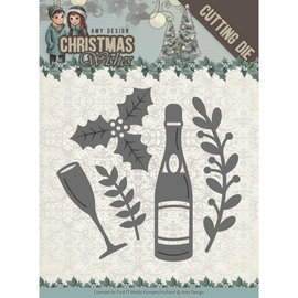 CREATIVE EXPRESSIONS und COUTURE CREATIONS Plantillas de corte, Champagne,  5,5 x 5,5 cm.