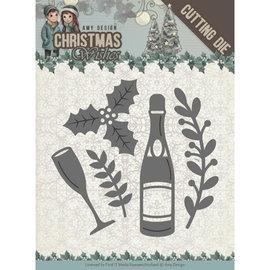 CREATIVE EXPRESSIONS und COUTURE CREATIONS Snijmallen / Snijsjablonen , Champagne,  5,5 x 5,5 cm.