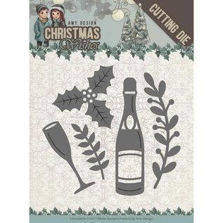 CREATIVE EXPRESSIONS und COUTURE CREATIONS Snijmallen / Snijsjablonen, Champagne,  5,5 x 5,5 cm.