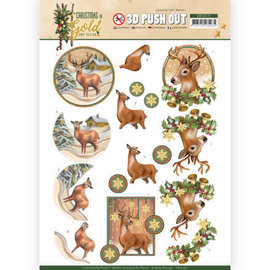 Bilder, 3D Bilder und ausgestanzte Teile usw... pre-cut A4 picture sheet, reindeer. To design on cards, albums, advent calendars and more