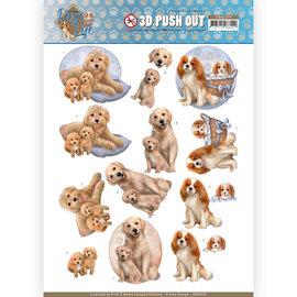 Bilder, 3D Bilder und ausgestanzte Teile usw... Pushout A4-vel, met hondenmotieven.