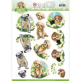 Bilder, 3D Bilder und ausgestanzte Teile usw... Pushout A4-vel, met hondenmotieven