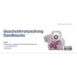 Dekoration Schachtel Gestalten / Boxe ... 3x emballage cadeau, sac à main vintage rose