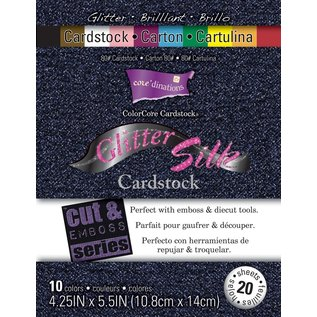 Karten und Scrapbooking Papier, Papier blöcke Glitter Silk Cardstock, 10,8 x 14 cm, 20 Blatt