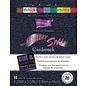 Karten und Scrapbooking Papier, Papier blöcke Cartoncino di seta glitterata, 10,8 x 14 cm, 20 fogli