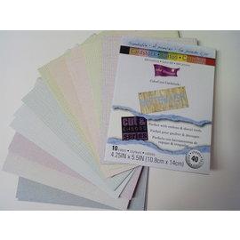 Karten und Scrapbooking Papier, Papier blöcke ColorCore karton, krijt, 10,8 x 14 cm, 40 Journal