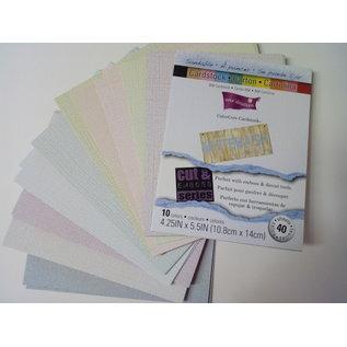 Karten und Scrapbooking Papier, Papier blöcke ColorCore Cardstock, Whitewash, 10,8 x 14 cm, 40 Blatt