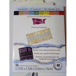 Karten und Scrapbooking Papier, Papier blöcke ColorCore Cardstock, Whitewash, 10.8 x 14 cm, 40 sheets