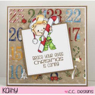 C.C.Designs Transparent Stempel:Elfe