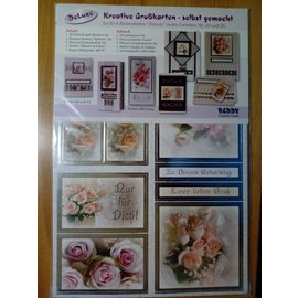REDDY Reddy Deluxe, kaartenset, bloemen, met zilverfolie-effect!