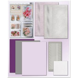 REDDY Reddy Deluxe, card set, flowers, with silver foil effect!