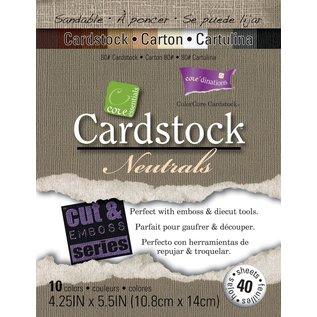 Karten und Scrapbooking Papier, Papier blöcke Carta da pranzo di Darice Core 'Core Essentials Clayboard 10,8 cm x 14 cm 40 / pkg Neutrali