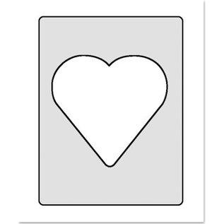 Embellishments / Verzierungen Duidelijk venster voor het ontwerpen van 3D Schaker-kaarten. 6 stuks, elk 3 bolvormige vensters, 3x hartvorm, 3x rond 77mm