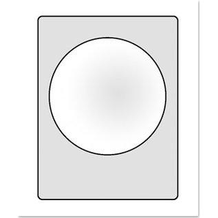 Embellishments / Verzierungen Clear window for designing 3D Schaker cards. 6 pieces, 3 spherical windows each, 3x heart shape, 3x round 77mm
