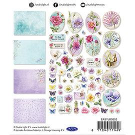Embellishments / Verzierungen Pynt, 45 stykker, til design på kort, albums, scrapbog med mere!