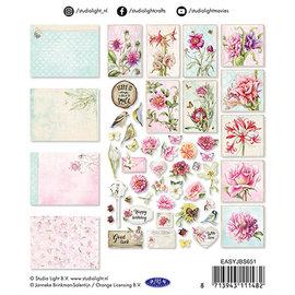 Embellishments / Verzierungen NIEUW! Versieringen, 45 delen, voor ontwerp op kaarten, albums, plakboek en nog veel meer!