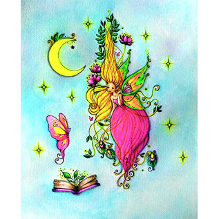CREATIVE EXPRESSIONS und COUTURE CREATIONS Stempel, A5, Luna Fairy, Fee