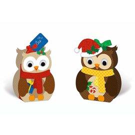 BASTELSETS / CRAFT KITS Kit di creazione, confezione regalo gufo, 8 scatole, assortite in 2 motivi, multicolore
