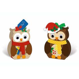 BASTELSETS / CRAFT KITS Kit d'artisanat, coffret cadeau hibou, 8 coffrets, assortis à 2 motifs, multicolore