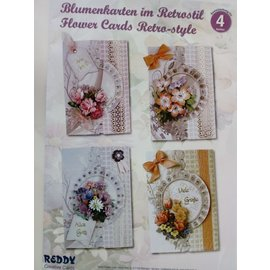 BASTELSETS / CRAFT KITS Bastelset: Floral card in retro style