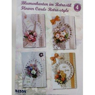 BASTELSETS / CRAFT KITS Bastelset: Floral card dans le style rétro