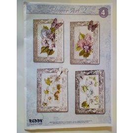 BASTELSETS / CRAFT KITS Bastelset für 4 edele Blumenkarten - LETZTE VORRÄTIG