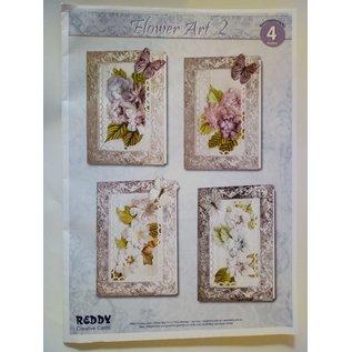 BASTELSETS / CRAFT KITS Craft Kit voor 4 nobele bloem kaarten