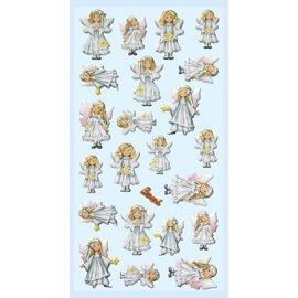 STICKER / AUTOCOLLANT Pegatinas 3d, 22 angelitos. ¡Para decorar tarjetas, regalos, álbumes, álbumes de recortes y más!