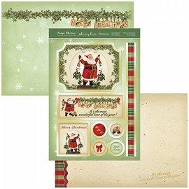 Hunkydory Luxus Sets Kit artigianale di carte vintage di Natale, Hunkydory, Luxery