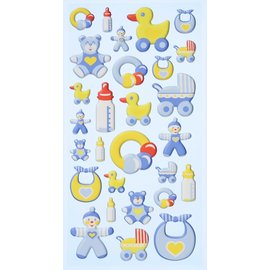 Embellishments / Verzierungen 3D Sticker, 28 Baby  Motiven. Zum Dekorieren auf karten, Geschenke, Alben, Scrapbooking und vieles mehr!