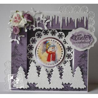 BASTELSETS / CRAFT KITS Kerst, KartenSET, knutselpakket Hunkydory, luxe kaarten + 2 zilveren kaarten + zelfklevende pads + stickers!