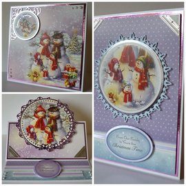 BASTELSETS / CRAFT KITS Natale, set di carte, set di artigianato hunkydory, carte di lusso + 2 carte d'argento + cuscinetti adesivi + adesivi