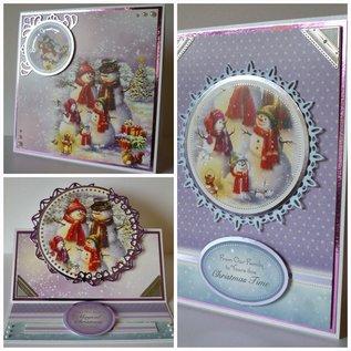 BASTELSETS / CRAFT KITS Weihnachten, KartenSET, Bastelpackung Hunkydory, Luxus Karten + 2  silberKarten + Klebe Pads + Sticker!