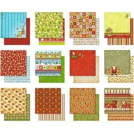 Karten und Scrapbooking Papier, Papier blöcke Premium Glitter Scrapbook paper Block 10, ca. 30,5 x 30,5 cm, 12 Blatt sortiert in 12 Motiven