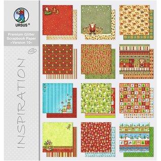Karten und Scrapbooking Papier, Papier blöcke Premium Glitter Scrapbook Paper Block 10, ongeveer 30,5 x 30,5 cm, 12 vellen gesorteerd in 12 motieven