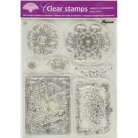 Stempel / Stamp: Transparent Transparant stempel: engelen en ornamenten