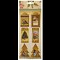 Embellishments / Verzierungen 6 chipboards, labels, with Christmas motifs