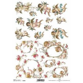 DECOUPAGE AND ACCESSOIRES NUEVO! 2x papel suave, 210 x 297 mm (A4) 40g, para diseñar en tarjetas, papel kraft, cartones, madera, vidrio, porcelana, MDF, poliestireno y muchos otros. - Copy